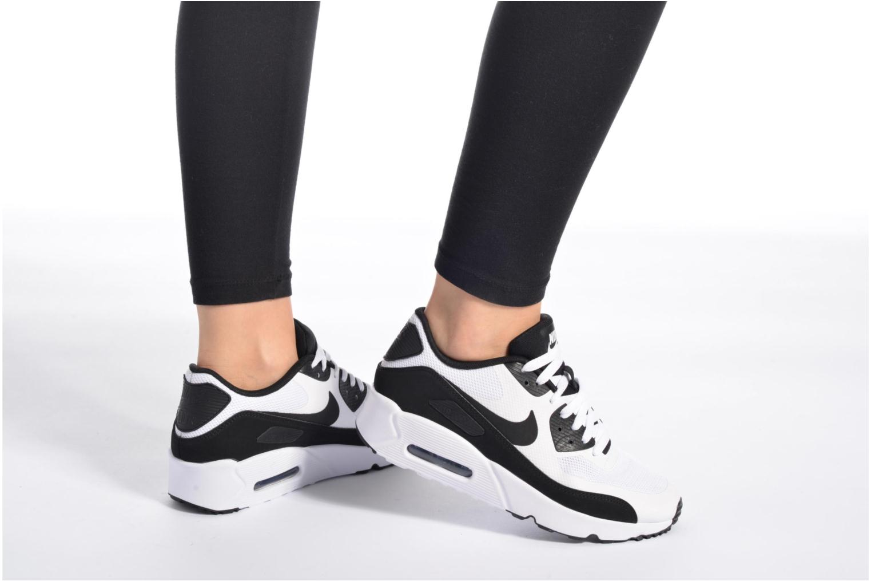 Baskets Nike Nike Air Max 90 Ultra 2.0 (Gs) Blanc vue bas / vue portée sac