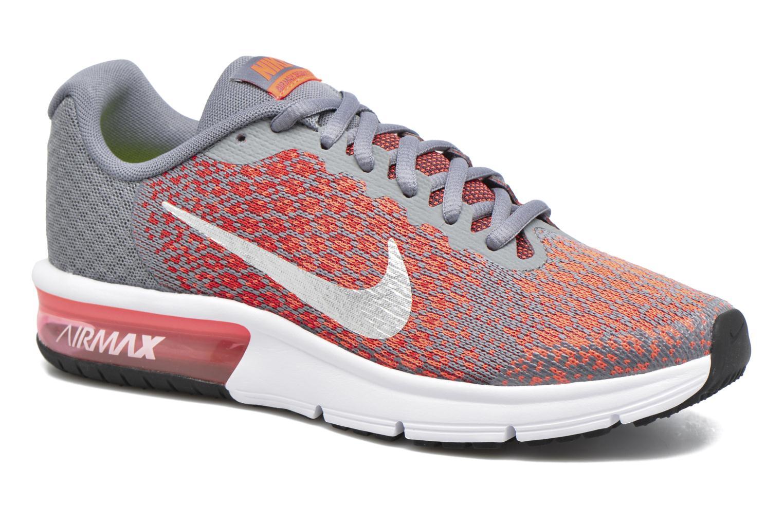 watch 2bd67 618a9 Baskets Nike Nike Air Max Sequent 2 (Gs) Orange vue détail paire ...