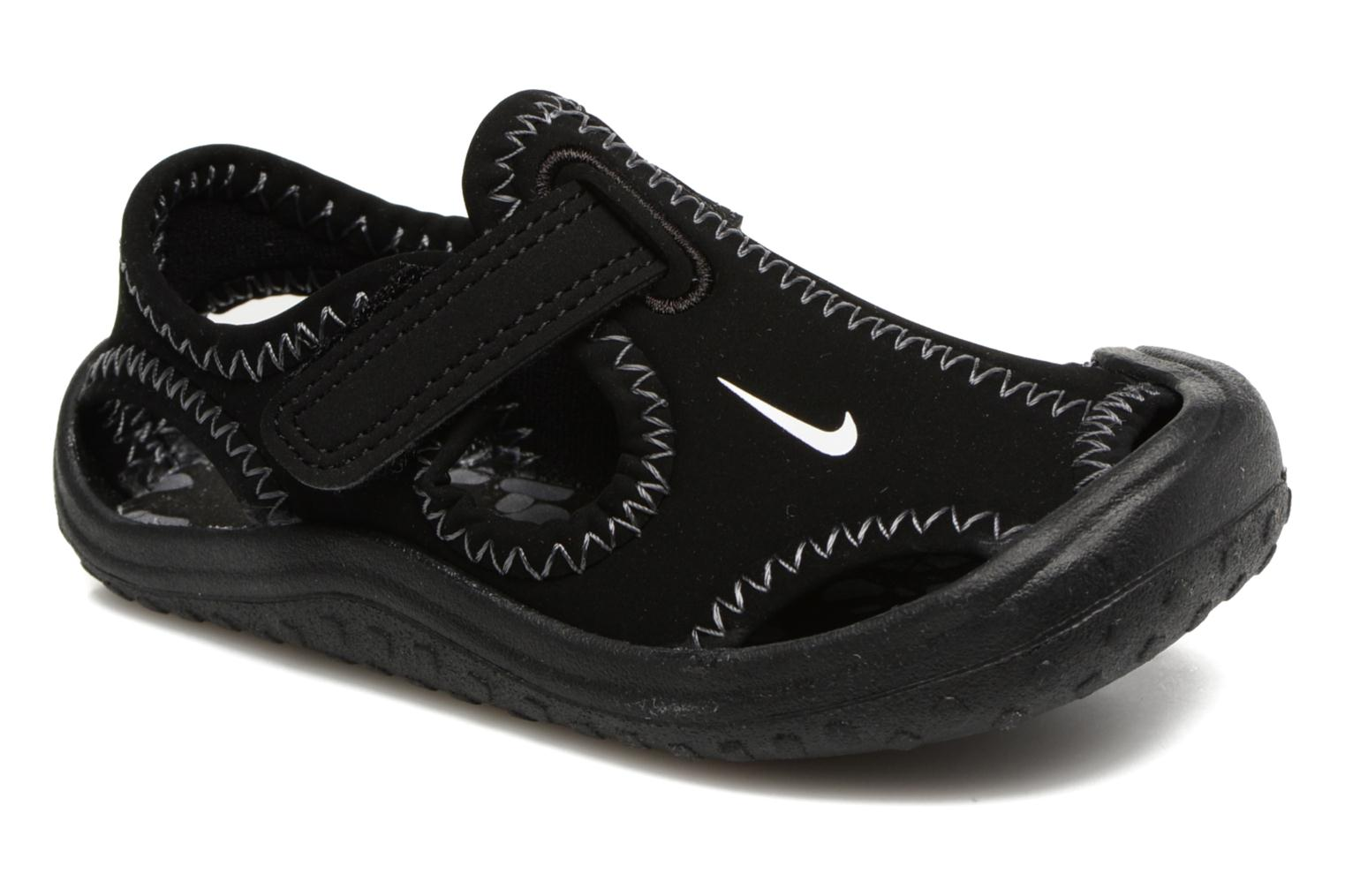 Sandals Nike Nike Sunray Protect (Td) Black detailed view/ Pair view