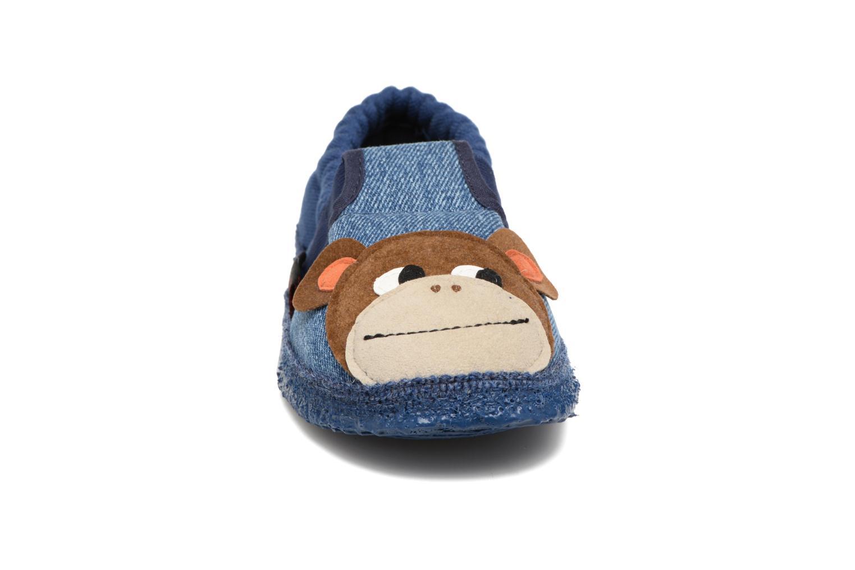 Chaussons Giesswein Affing Bleu vue portées chaussures