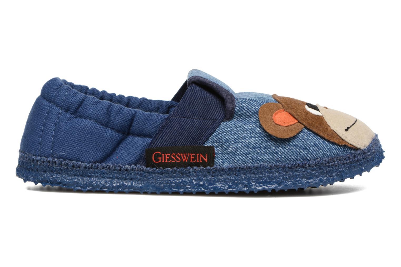 Chaussons Giesswein Affing Bleu vue derrière