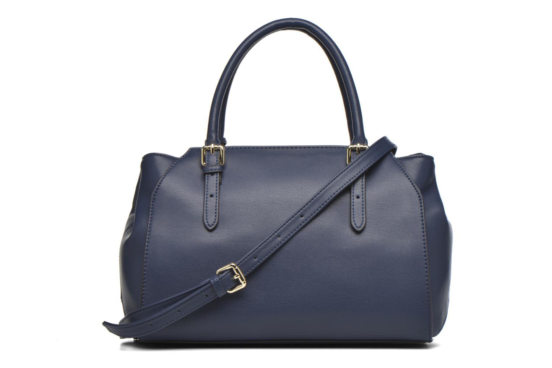 Bolsos de mano Guess Sissi Medium Satchel Azul vista del modelo