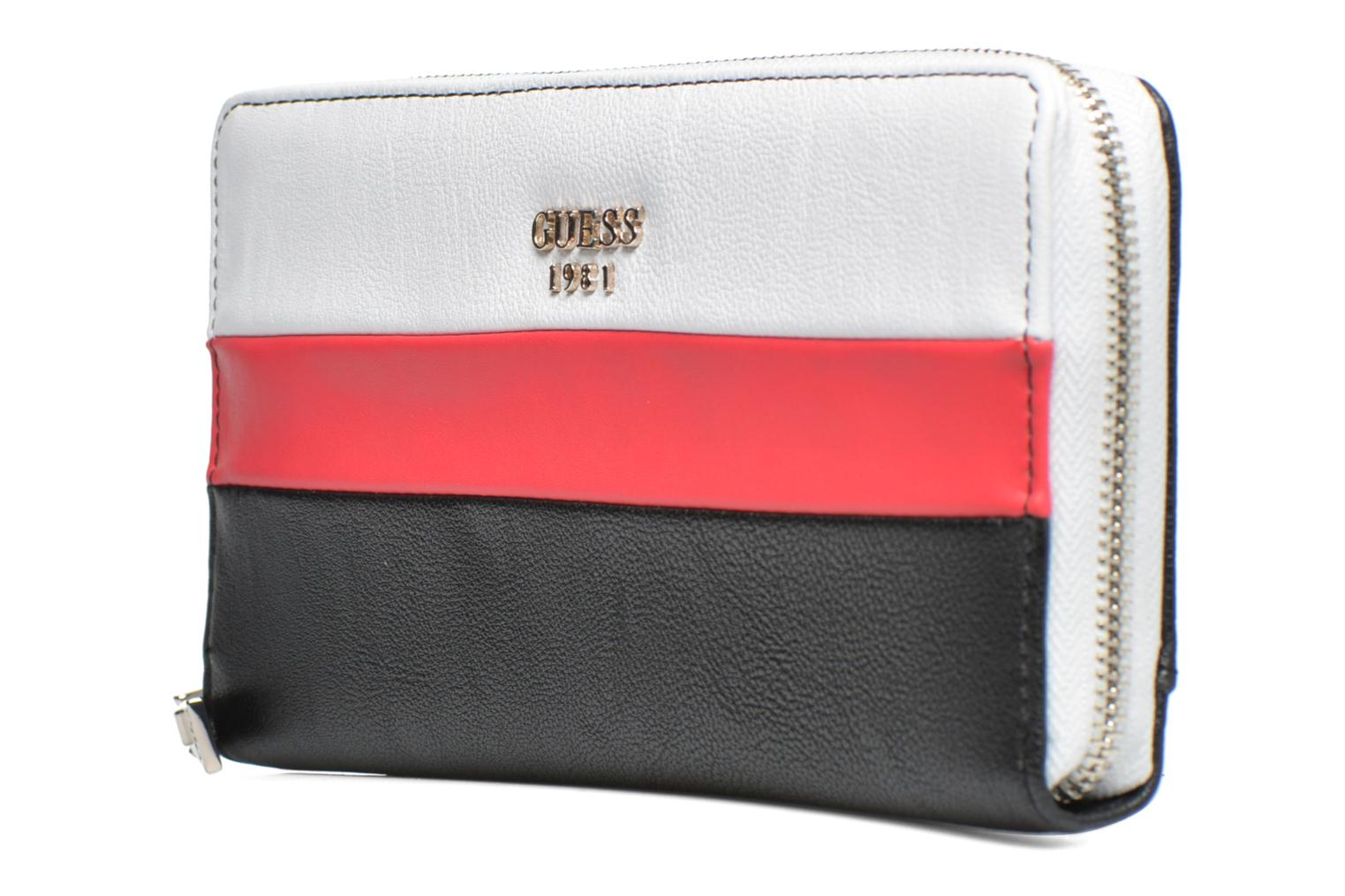 Petite Maroquinerie Guess Cate Cheque Organizer Multicolore vue portées chaussures