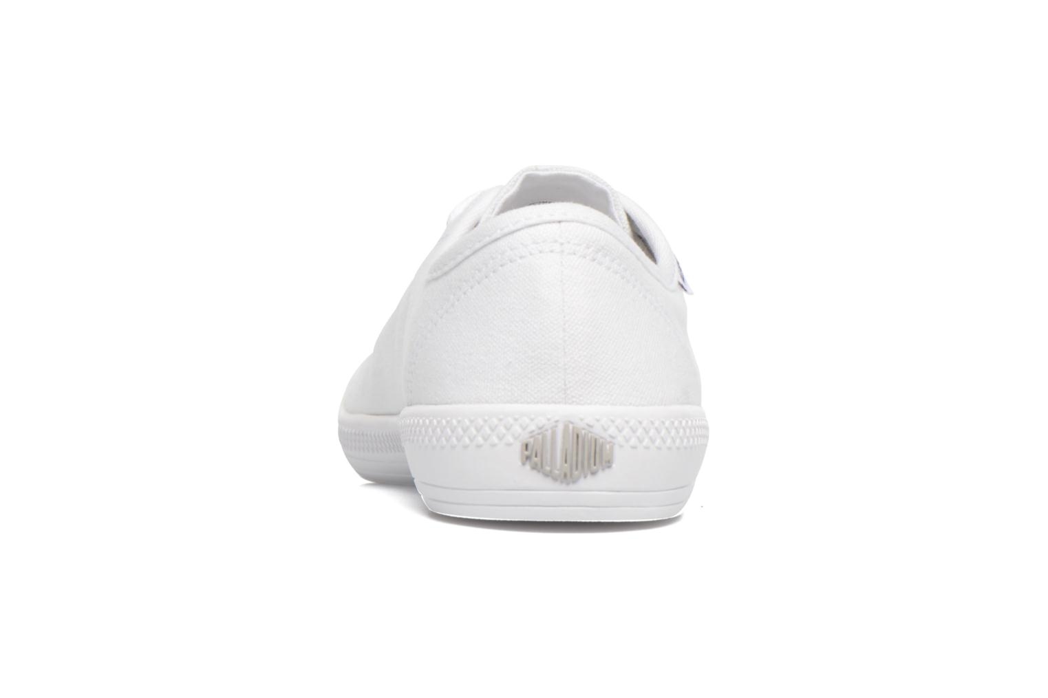 Deportivas Palladium Us Flex Lace F Blanco vista lateral derecha
