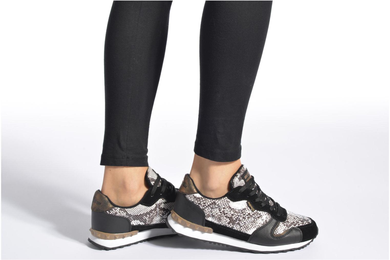 Chaussures à lacets Refresh Lana-61606 Noir vue bas / vue portée sac