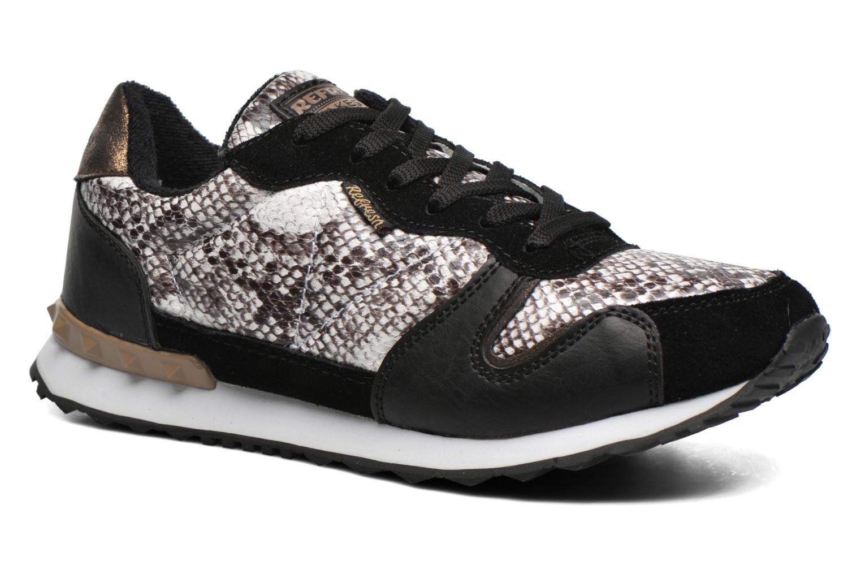 Chaussures à lacets Refresh Lana-61606 Noir vue détail/paire