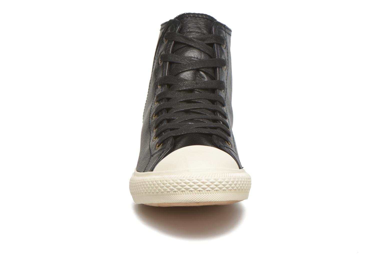 White tab sneaker Hi Regular Black