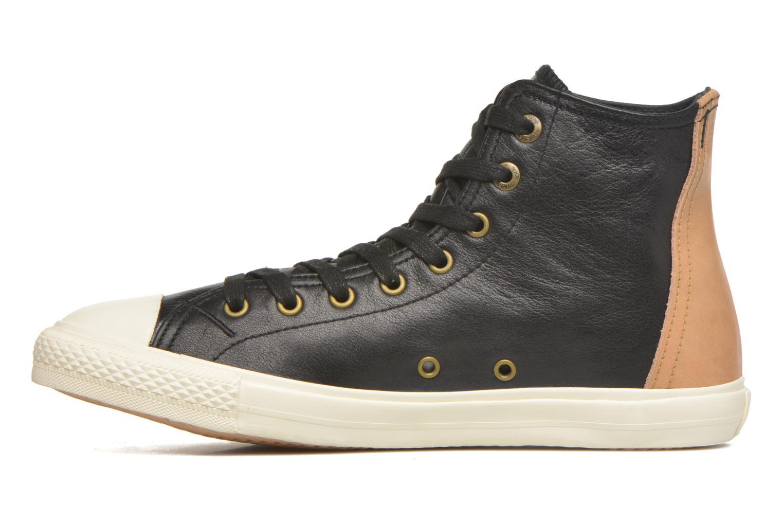 White tab sneaker Hi Regular Black