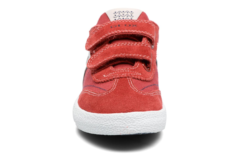 Baskets Geox J Kiwi B. M J52A7M Bleu vue portées chaussures