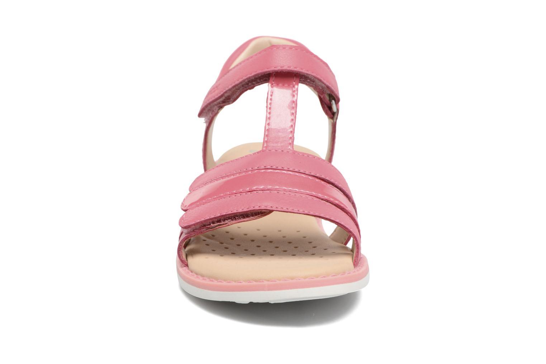 Sandales et nu-pieds Geox J S.Giglio A J62E2A Rose vue portées chaussures
