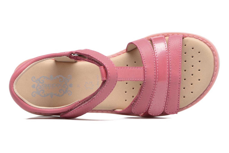 Sandales et nu-pieds Geox J S.Giglio A J62E2A Rose vue gauche