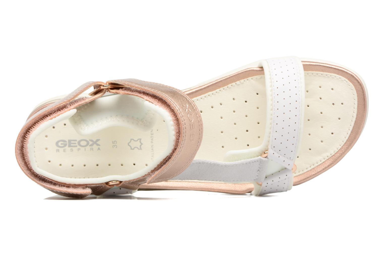 Sandales et nu-pieds Geox J Sand.SukieJ720VD Blanc vue gauche