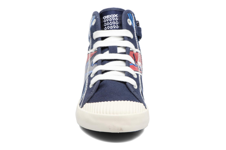 Sneakers Geox J Kiwi B. E - J72A7E Azzurro modello indossato