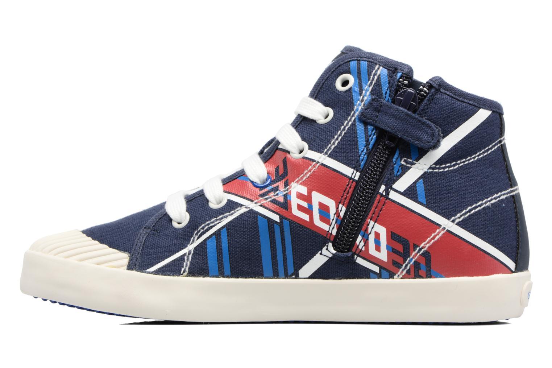 Sneakers Geox J Kiwi B. E - J72A7E Azzurro immagine frontale