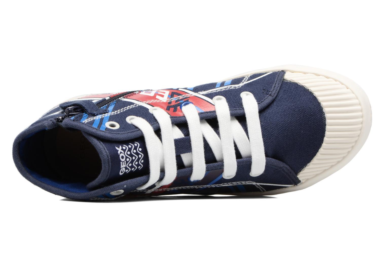 Sneakers Geox J Kiwi B. E - J72A7E Azzurro immagine sinistra