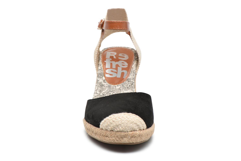 Espadrilles Refresh Malo Noir vue portées chaussures
