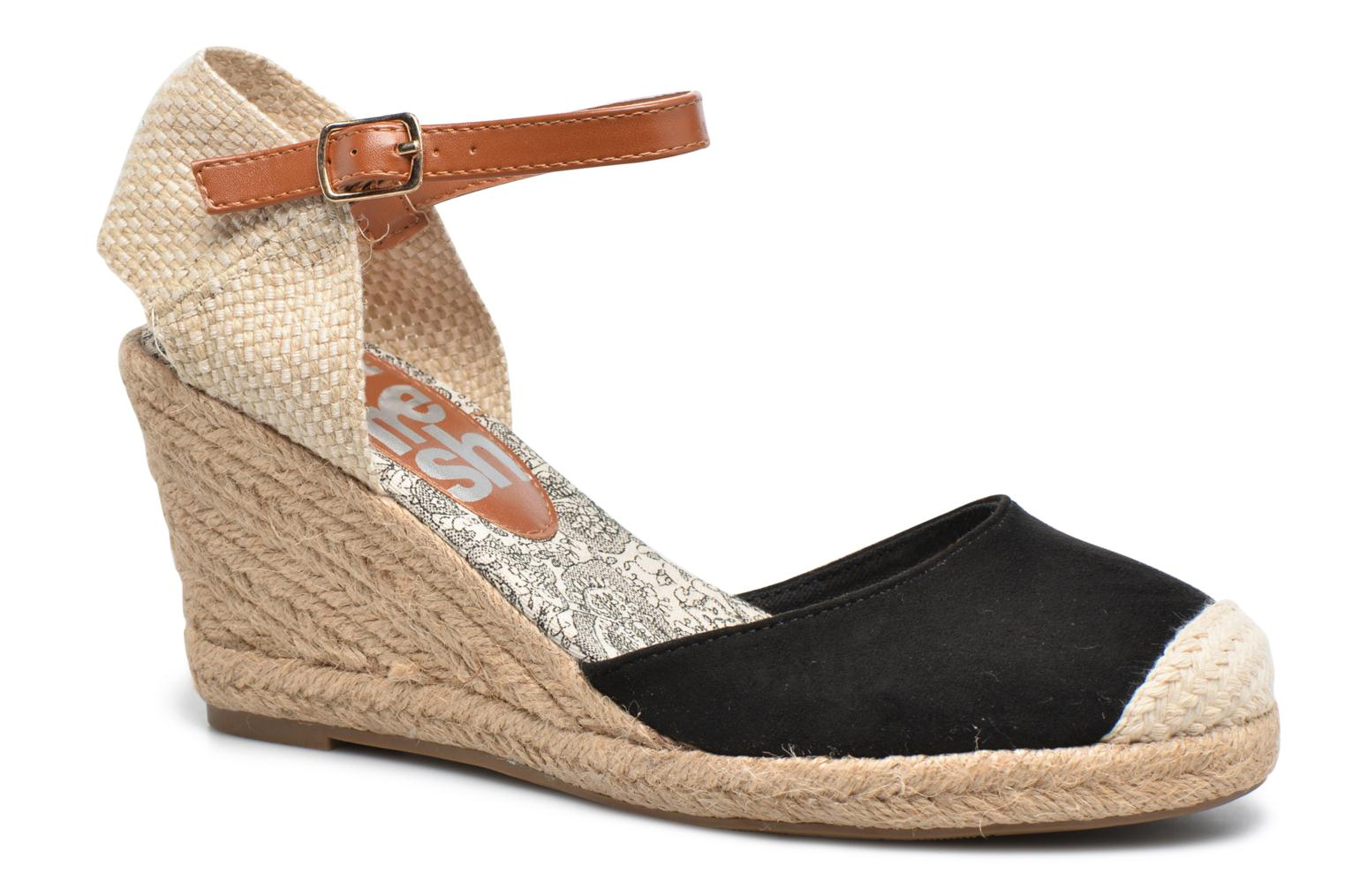 Espadrilles Refresh Malo Black detailed view/ Pair view