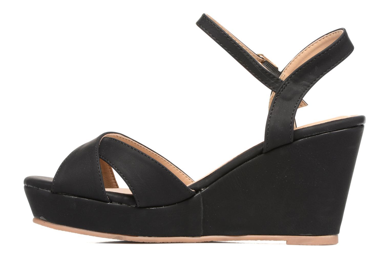 Sandales et nu-pieds Refresh Opar Noir vue face