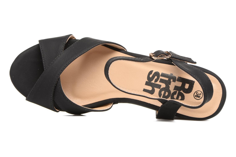 Sandalias Refresh Opar Negro vista lateral izquierda
