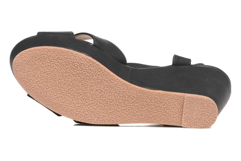 Sandales et nu-pieds Refresh Opar Noir vue haut