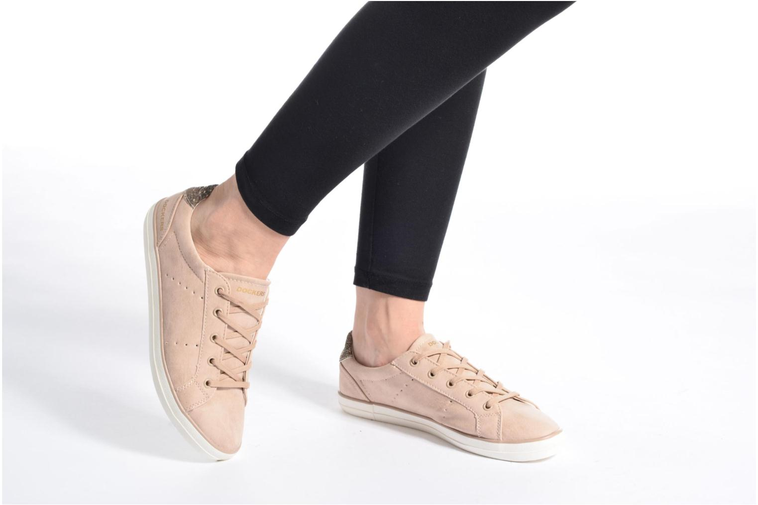 Trainers Dockers Molly Pink view from underneath / model view