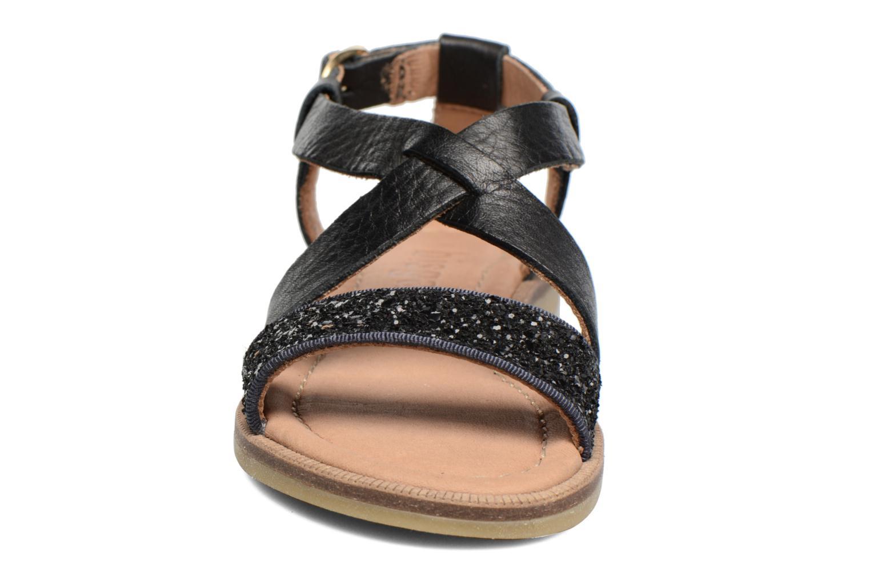 Sandales et nu-pieds Bisgaard Mia Noir vue portées chaussures