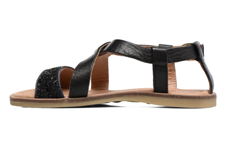 Sandales et nu-pieds Bisgaard Mia Noir vue face