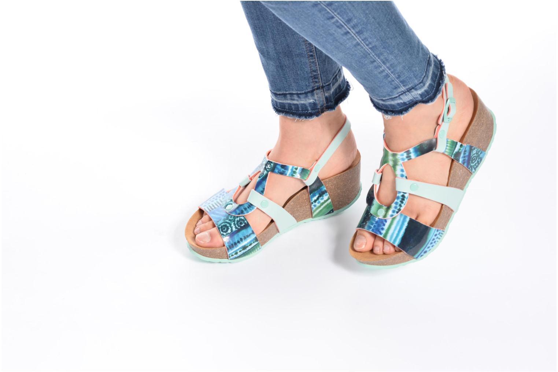 Sandales et nu-pieds Desigual SHOES_BIO 9 Multicolore vue bas / vue portée sac