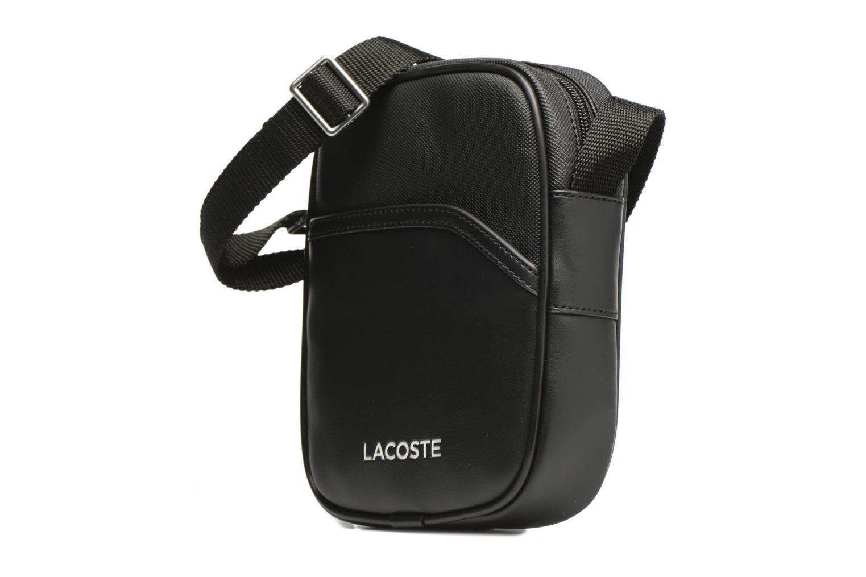 Sacs homme Lacoste Ultimum Vertical Camera bag S Noir vue portées chaussures