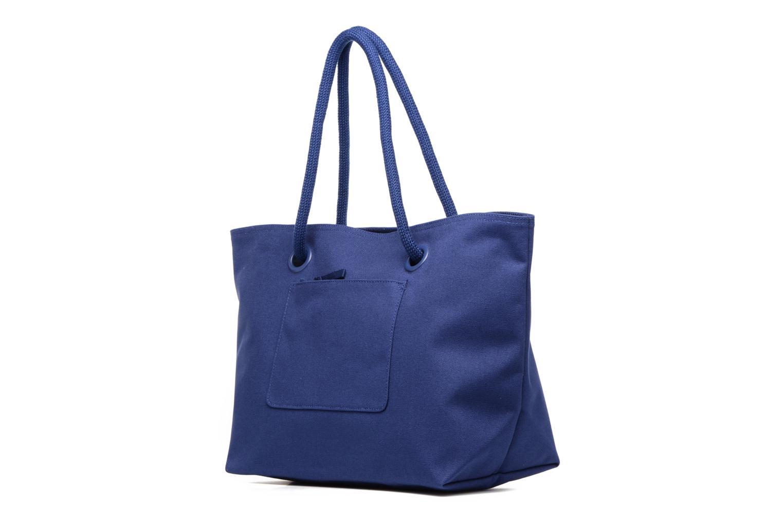 Sacs à main Lacoste Summer Shopping bag L Bleu vue droite