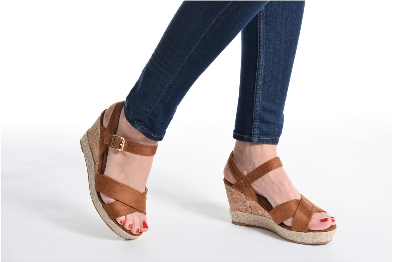 Sandales et nu-pieds Xti Issum 33450 Rose vue bas / vue portée sac