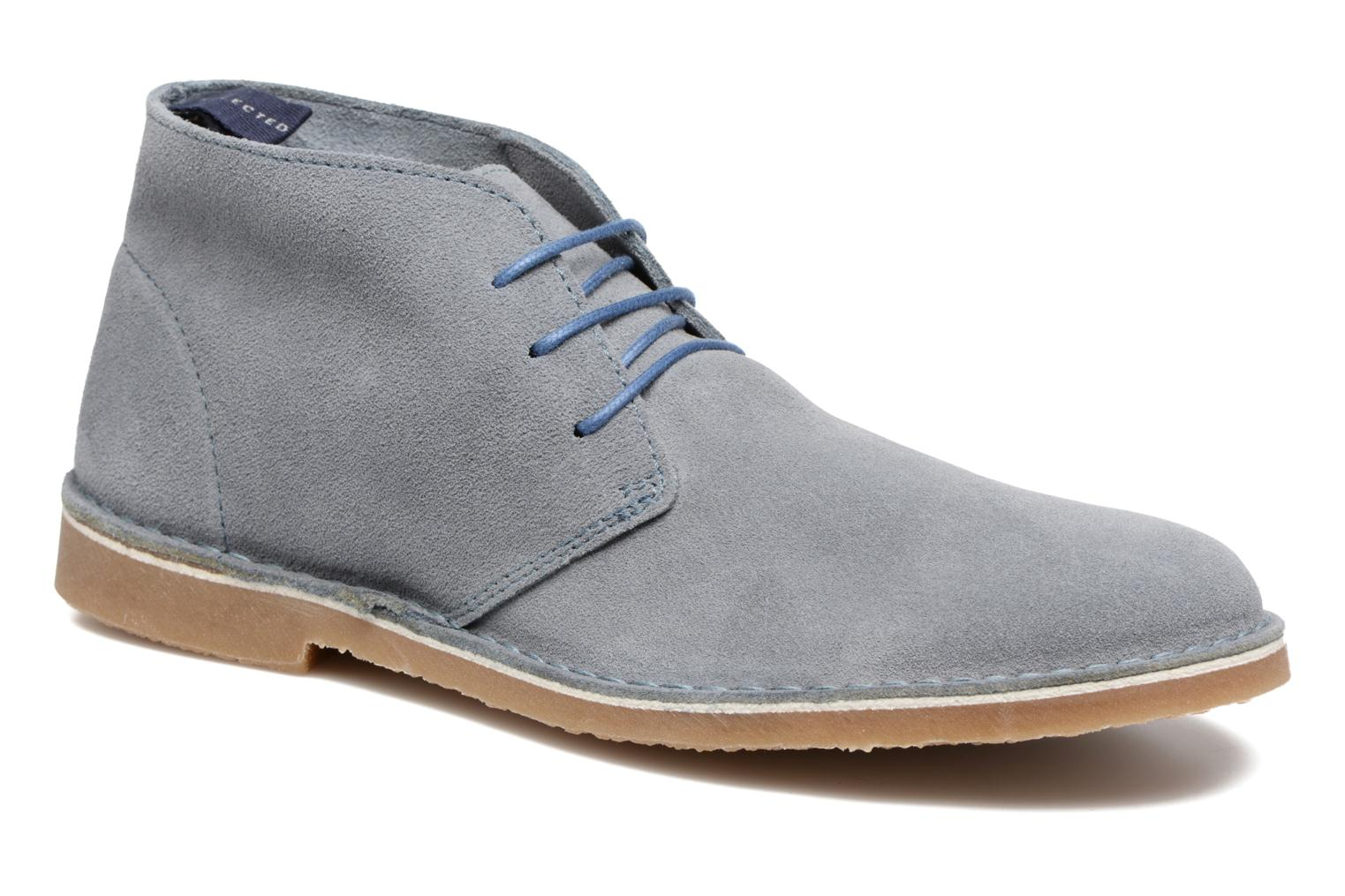 Bottines et boots Selected Homme Royce Light Boot 2 Bleu vue détail/paire