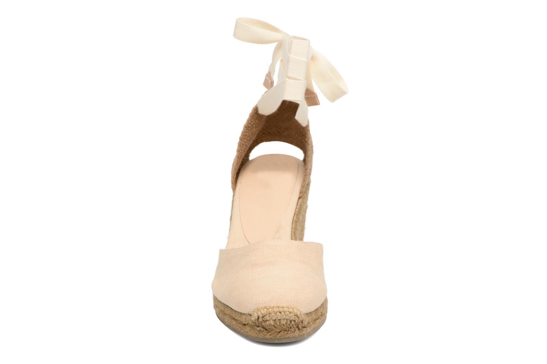 Espadrilles Castaner Carina H8 Beige vue portées chaussures