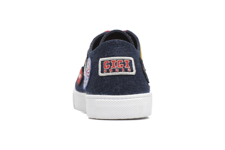 Baskets Tommy Hilfiger Low lace Sneaker Gigi Hadid 1C Bleu vue droite