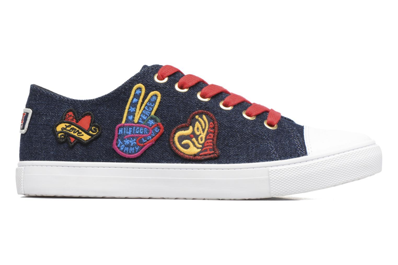 Baskets Tommy Hilfiger Low lace Sneaker Gigi Hadid 1C Bleu vue derrière