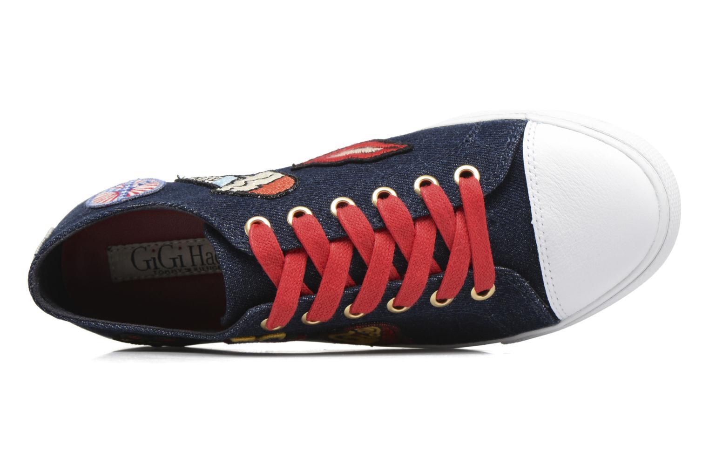 Baskets Tommy Hilfiger Low lace Sneaker Gigi Hadid 1C Bleu vue gauche