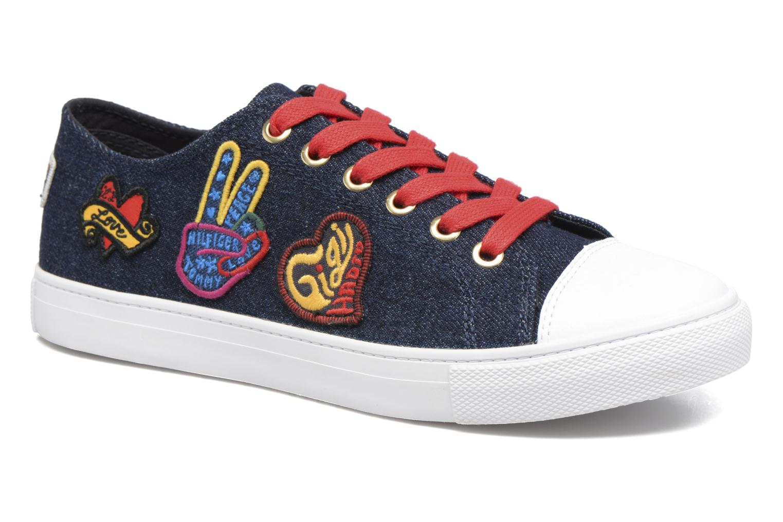 Baskets Tommy Hilfiger Low lace Sneaker Gigi Hadid 1C Bleu vue détail/paire