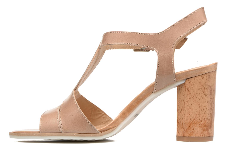 Sandales et nu-pieds Perlato Lubia Beige vue face