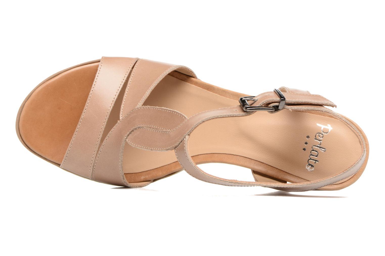 Sandales et nu-pieds Perlato Lubia Beige vue gauche