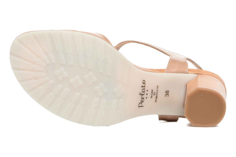 Sandales et nu-pieds Perlato Lubia Beige vue haut