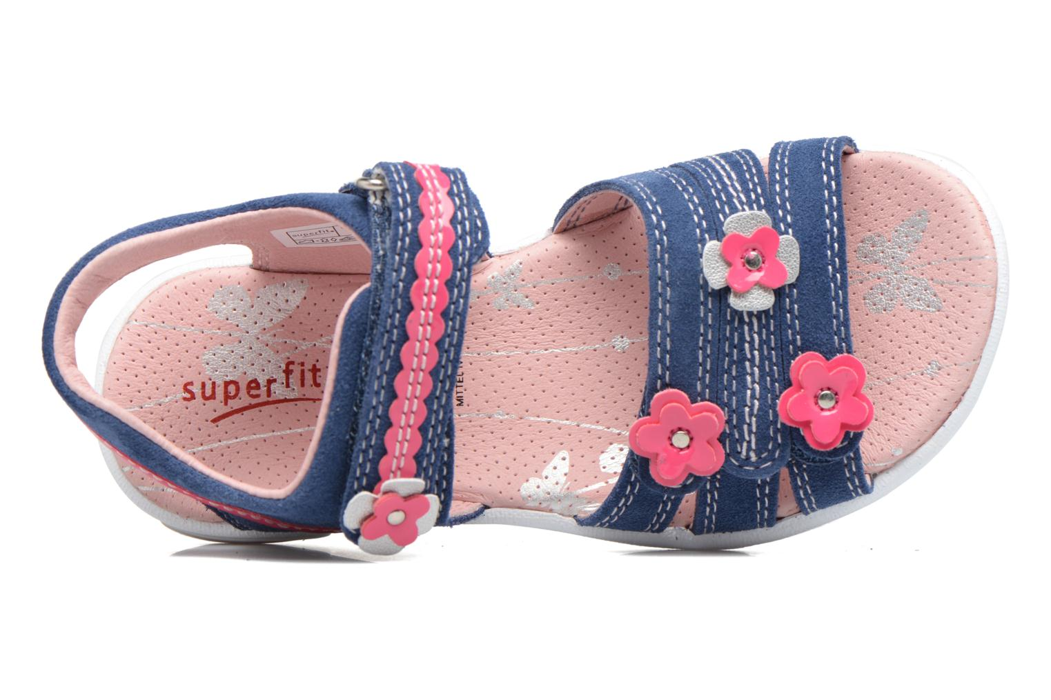 Sandals Superfit Emily Blue view from the left