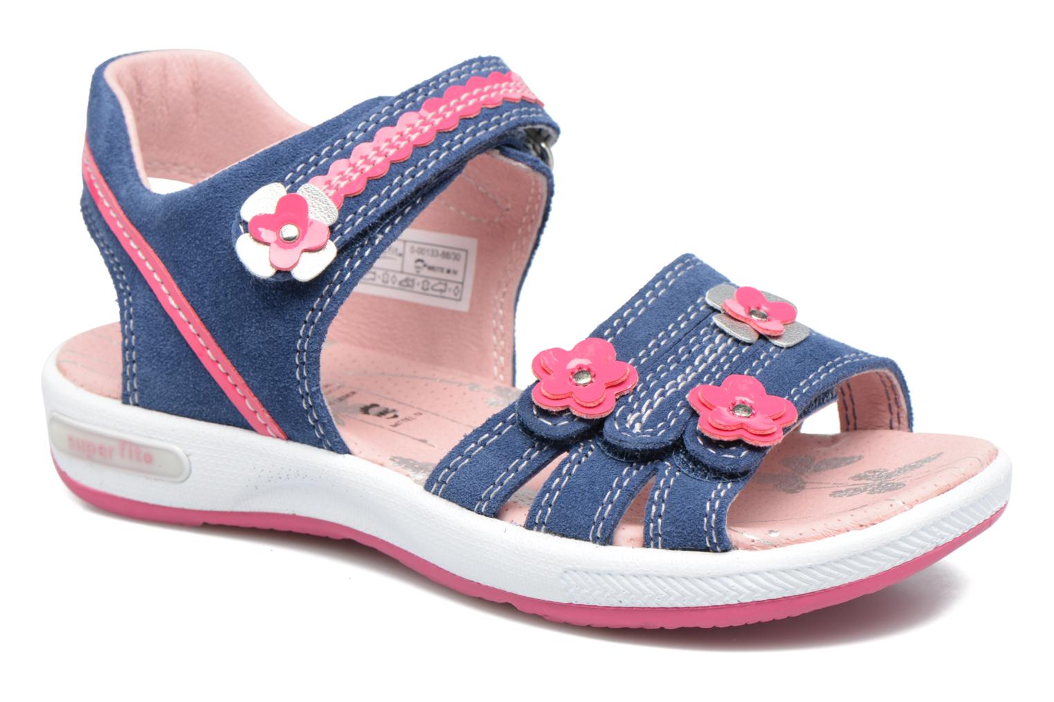 Sandals Superfit Emily Blue detailed view/ Pair view