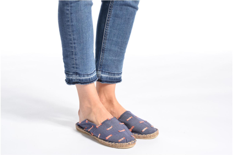 Espadrilles Arsène Pulpe Jeans Bleu vue bas / vue portée sac