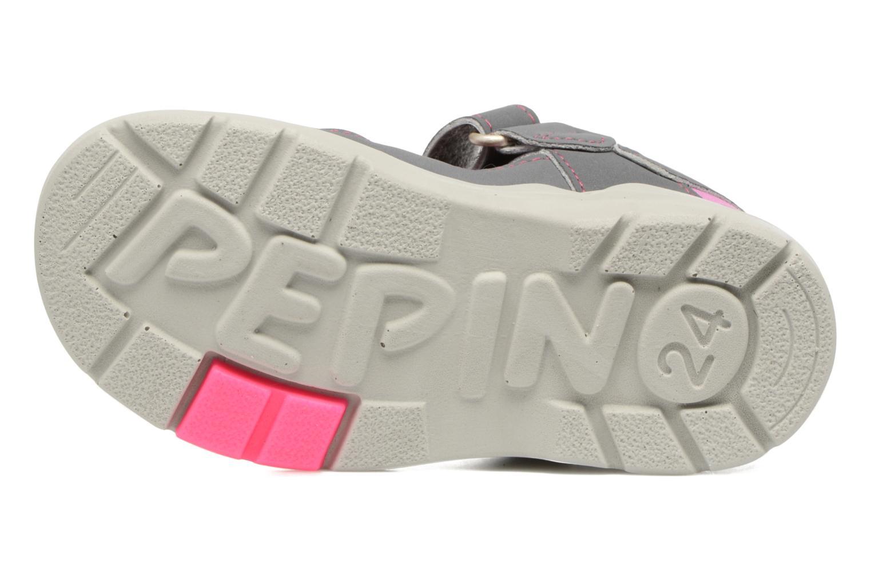 Sandales et nu-pieds PEPINO Gery Gris vue haut