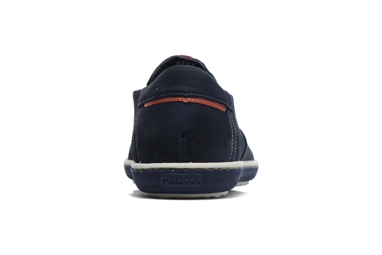 Loafers Fluchos Pegaso 9707 Blå Bild från höger sidan