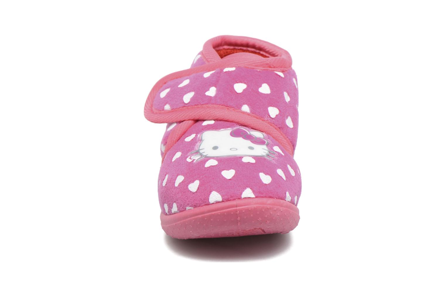 Chaussons Hello Kitty Hk Lalie Rose vue portées chaussures