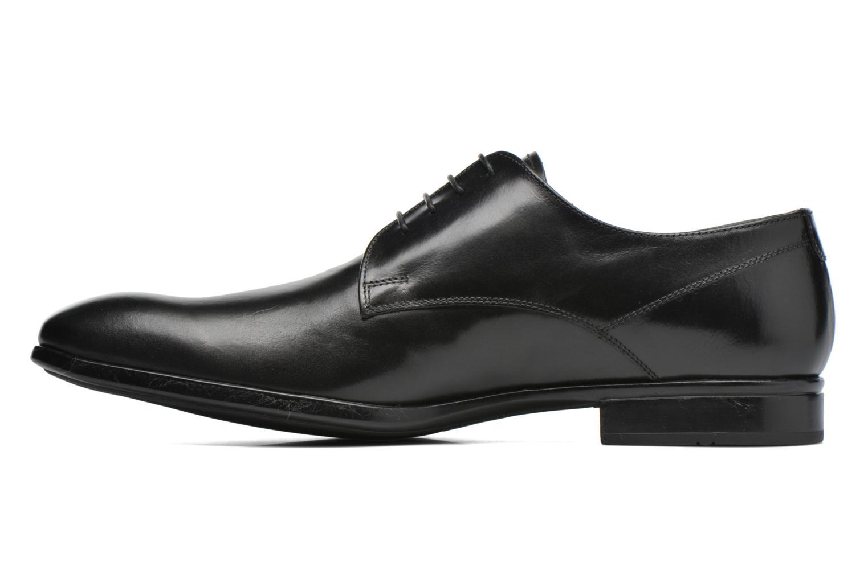 Snörade skor Doucal's OSCAR Vichy Svart bild från framsidan