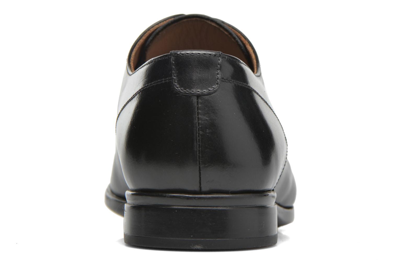 Snörade skor Doucal's OSCAR Vichy Svart Bild från höger sidan