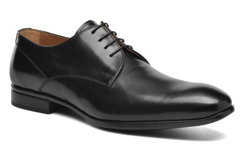 Snörade skor Doucal's OSCAR Vichy Svart detaljerad bild på paret