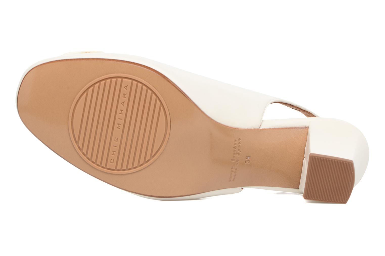 Sandales et nu-pieds Chie Mihara Bri Ripon Blanc vue haut